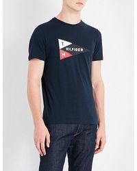 Tommy Hilfiger | Blue Mick Logo-print Cotton-jersey T-shirt for Men | Lyst