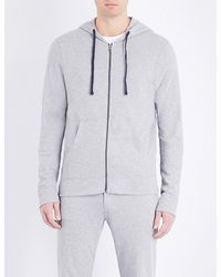 James Perse | Gray Vintage Cotton-jersey Hoody for Men | Lyst