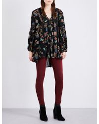 Free People   Black Just The Two Of Us Crepe Tunic   Lyst