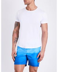 Orlebar Brown | White Solid Crewneck Cotton T-shirt for Men | Lyst