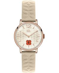 Orla Kiely | Metallic Ok2010 Frankie Leather And Stainless Steel Watch | Lyst