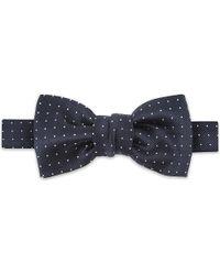 Lanvin | Blue Spot Pattern Silk Bowtie for Men | Lyst