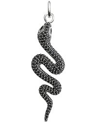 Thomas Sabo - Glam & Soul Black Sterling Silver And Diamond Snake Pendant - Lyst
