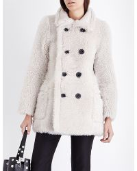 Karl Donoghue | Natural Double-breasted Reversible Shearling Coat | Lyst