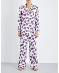 Olivia Von Halle - Purple Lila Aicha Silk Pyjama Set - Lyst
