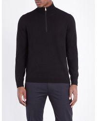 Paul Smith | Black Half-zip Wool Jumper for Men | Lyst