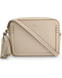kate spade new york | Natural Orchard Street Leather Arla Cross-body Bag | Lyst