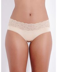 Calvin Klein - Natural Seductive Comfort Stretch-lace And Jersey Hipster Briefs - Lyst