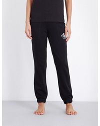 Calvin Klein - Black Retro Jersey Pyjama Bottoms - Lyst