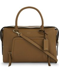 DKNY | Brown Chelsea Large Leather Satchel | Lyst