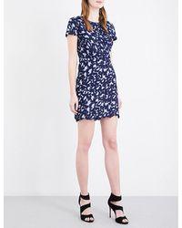 Sandro   Blue Leo Geometric Lace Dress   Lyst