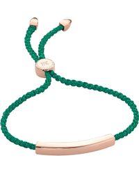 Monica Vinader - Metallic Linear 18ct Rose Gold-plated Friendship Bracelet - Lyst