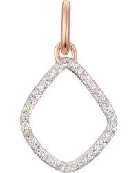 Monica Vinader - Metallic Riva Kite Chain 18ct Rose-gold Vermeil Pavé Diamond Pendant - Lyst