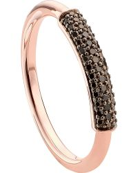 Monica Vinader - Stellar 18ct Rose Gold-plated Vermeil And Black Diamond Ring - Lyst