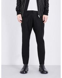 Rick Owens | Black Dropped-crotch Relaxed Jacquard Trousers for Men | Lyst