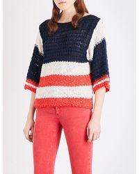 Sandro | Blue Quinn Knitted Jumper | Lyst