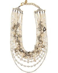 Erickson Beamon - Metallic Swan Lake Swarovski Necklace - Lyst