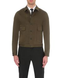 DSquared² - Green Stretch-cotton Jacket for Men - Lyst