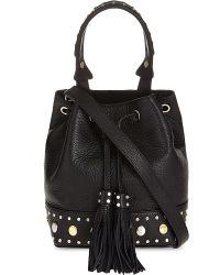 Sandro - Black Alane Leather Bag - Lyst