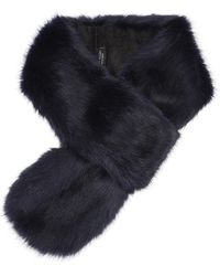 Helen Moore | Blue Vixen Long Faux Fur Scarf | Lyst