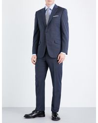 Richard James - Blue Mill Single-breasted Wool Suit for Men - Lyst