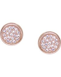 Carat* | Pink Rose Gold-vermeil And Pavé Stud Earrings | Lyst