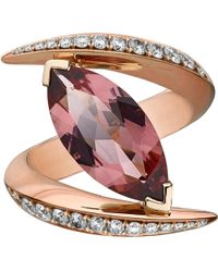 Shaun Leane - White Aerial 18ct Rose Gold And Diamond Ring - Lyst