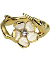 Shaun Leane | Metallic Sterling Silver Gold Vermeil Single Blossom Ring | Lyst
