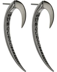Shaun Leane | Metallic Tusk Sterling Silver And Black Rhodium Earrings | Lyst