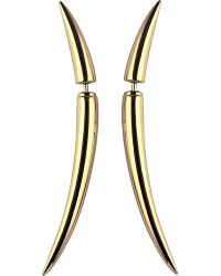 Shaun Leane | Metallic Quill Gold Plate Earrings Size 1 | Lyst