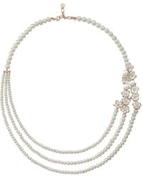Shaun Leane - Metallic Silver And Gold Cherry Blossom Diamond Necklace - Lyst