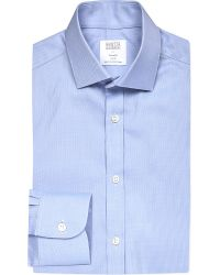 Smyth & Gibson | Blue Royal Oxford Tailored-fit Cotton Shirt for Men | Lyst