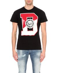 DIESEL   Black T-diego-gr Cotton T-shirt for Men   Lyst