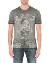 DIESEL | Gray T-joe-ho Graphic-print Cotton T-shirt for Men | Lyst