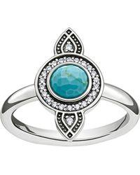 Thomas Sabo | Metallic Dreamcatcher Sterling Silver Ring | Lyst