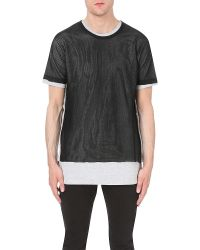 DIESEL | Gray T-seaweed Cotton-jersey T-shirt for Men | Lyst