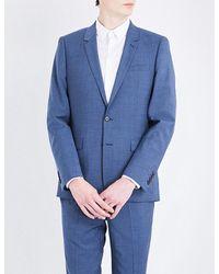 Sandro - Blue Slim-fit Wool for Men - Lyst
