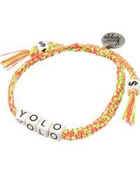 Venessa Arizaga - Metallic Yolo Ceramic Bracelet - Lyst