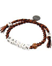 Venessa Arizaga - Brown Ballin' Ceramic Bracelet - Lyst