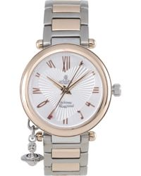 Vivienne Westwood | Metallic Orb Rose Gold And Silver Ladies' Watch | Lyst