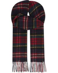Johnstons | Red Cashmere Scarf for Men | Lyst