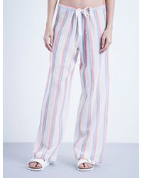 Solid & Striped | Multicolor Striped Cotton Trousers | Lyst