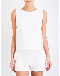 Solid & Striped - White The Michy Cotton-blend Playsuit - Lyst