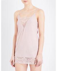 Wacoal | Pink Frivole Stretch-jersey Chemise | Lyst