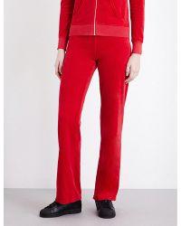Juicy Couture | Red Maravista Velour Jogging Bottoms | Lyst