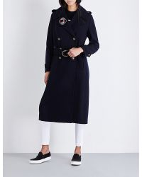Tommy Hilfiger - Blue X Gigi Hadid Military Double-breasted Wool-blend Coat - Lyst