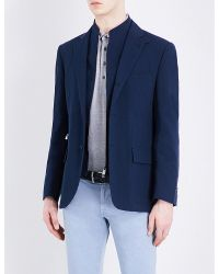 Corneliani | Blue Cotton Jacket for Men | Lyst