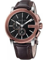 Gucci | Black Ya101202 G-chrono Gold-plated Stainless Steel Chronograph Watch for Men | Lyst