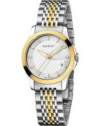 Gucci | Metallic Ya126511 G-timeless Collection Stainless Steel And Yellow-gold Pvd Watch | Lyst