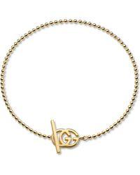 Gucci - Metallic Brand-motif 18ct Yellow-gold Bracelet - Lyst